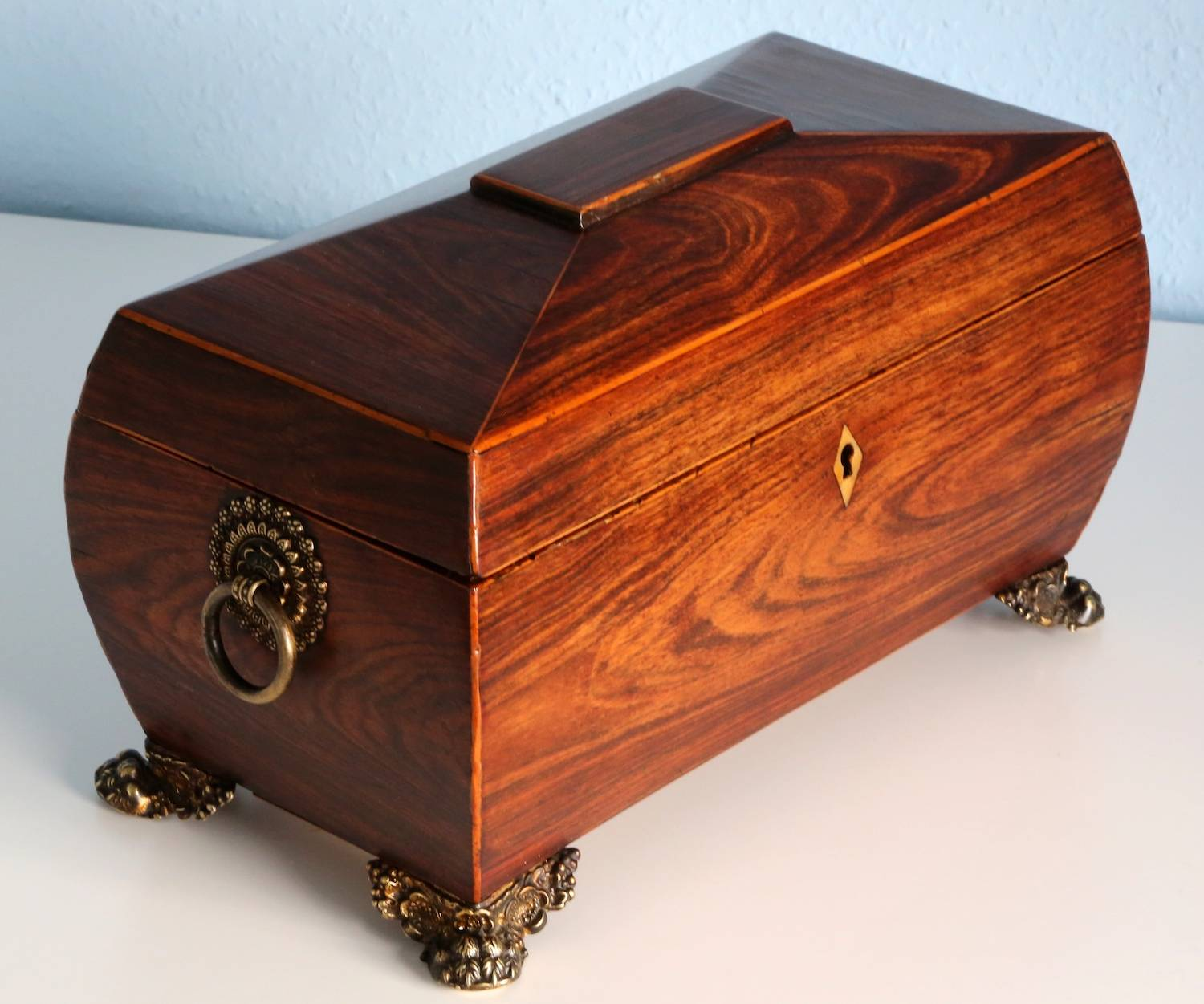 victorian rosewood tea chest