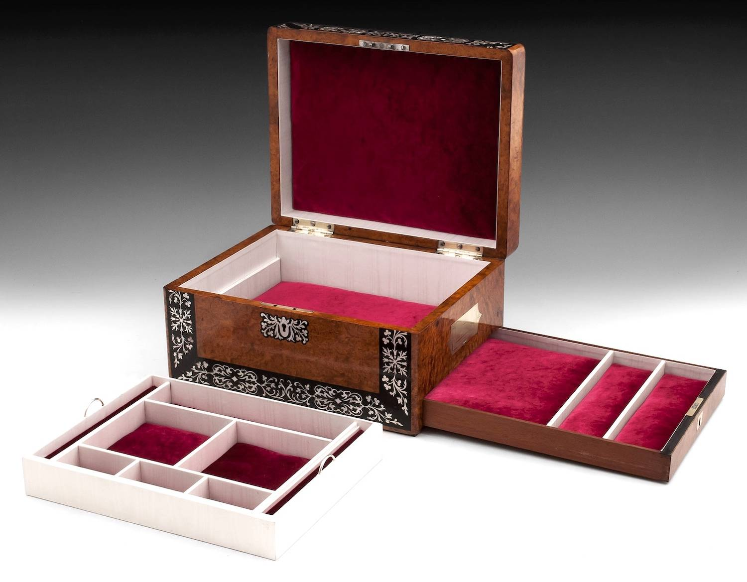 Amboyna Jewellery Box-10