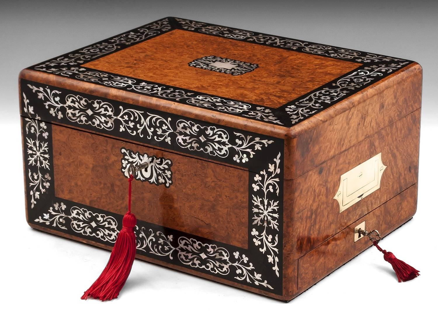 Amboyna Jewellery Box-12