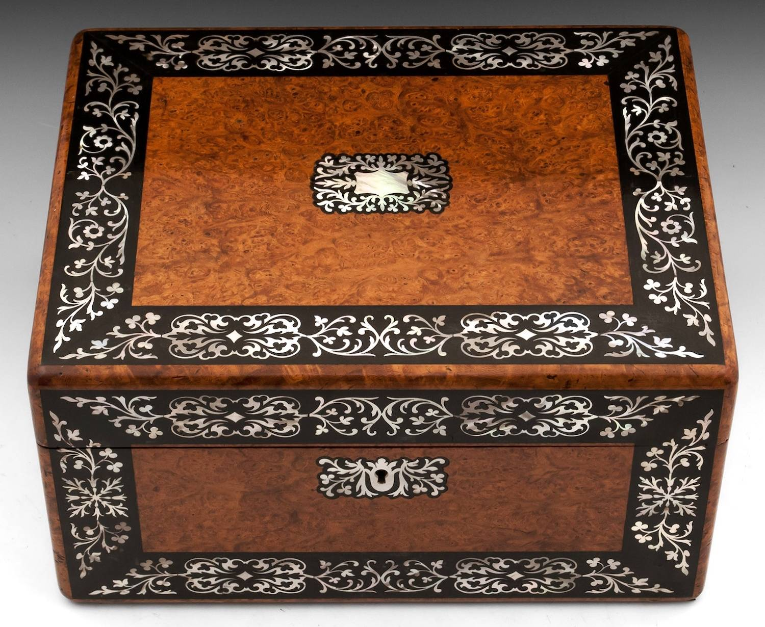 Amboyna Jewellery Box-3