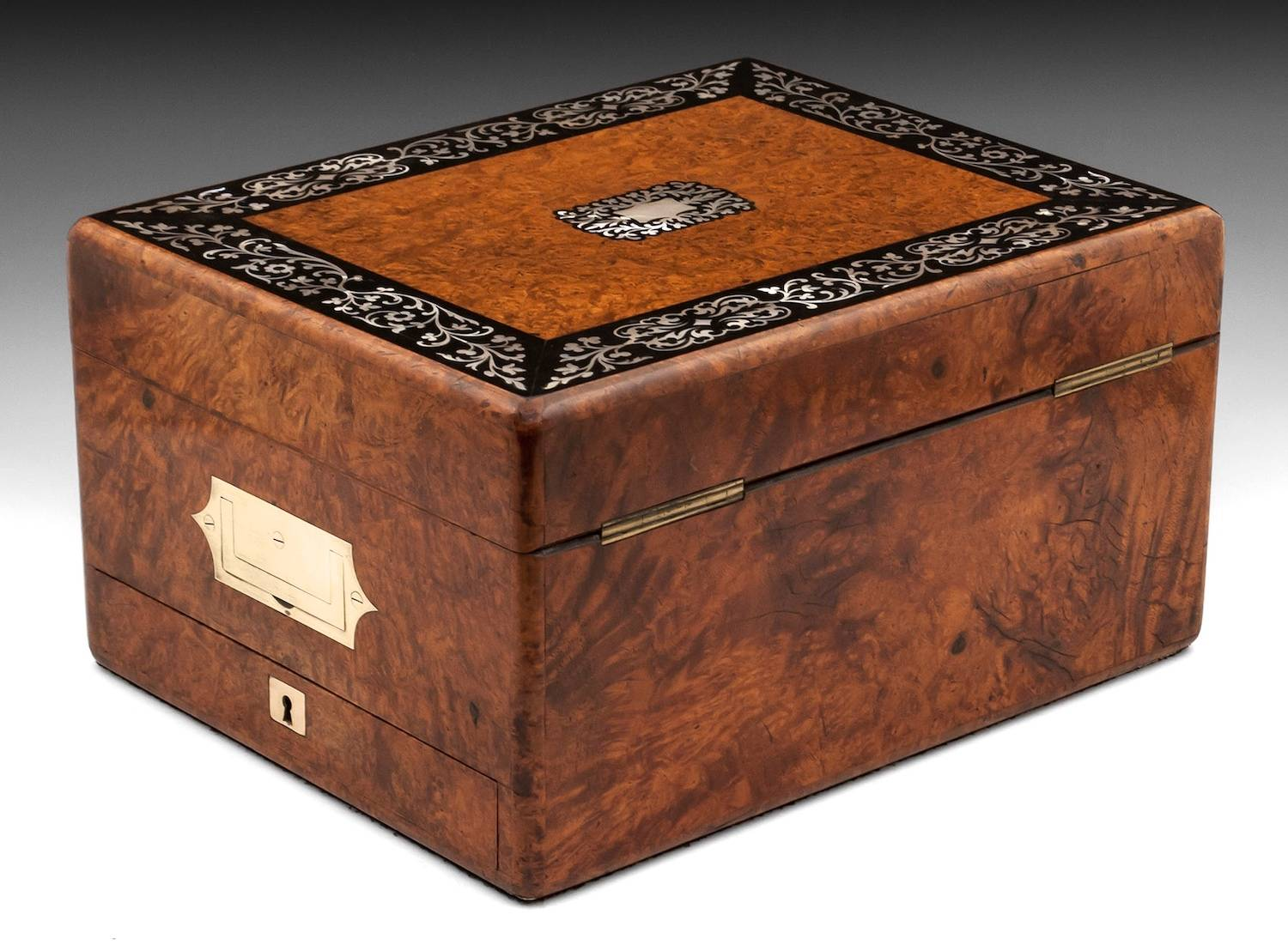 Amboyna Jewellery Box-6