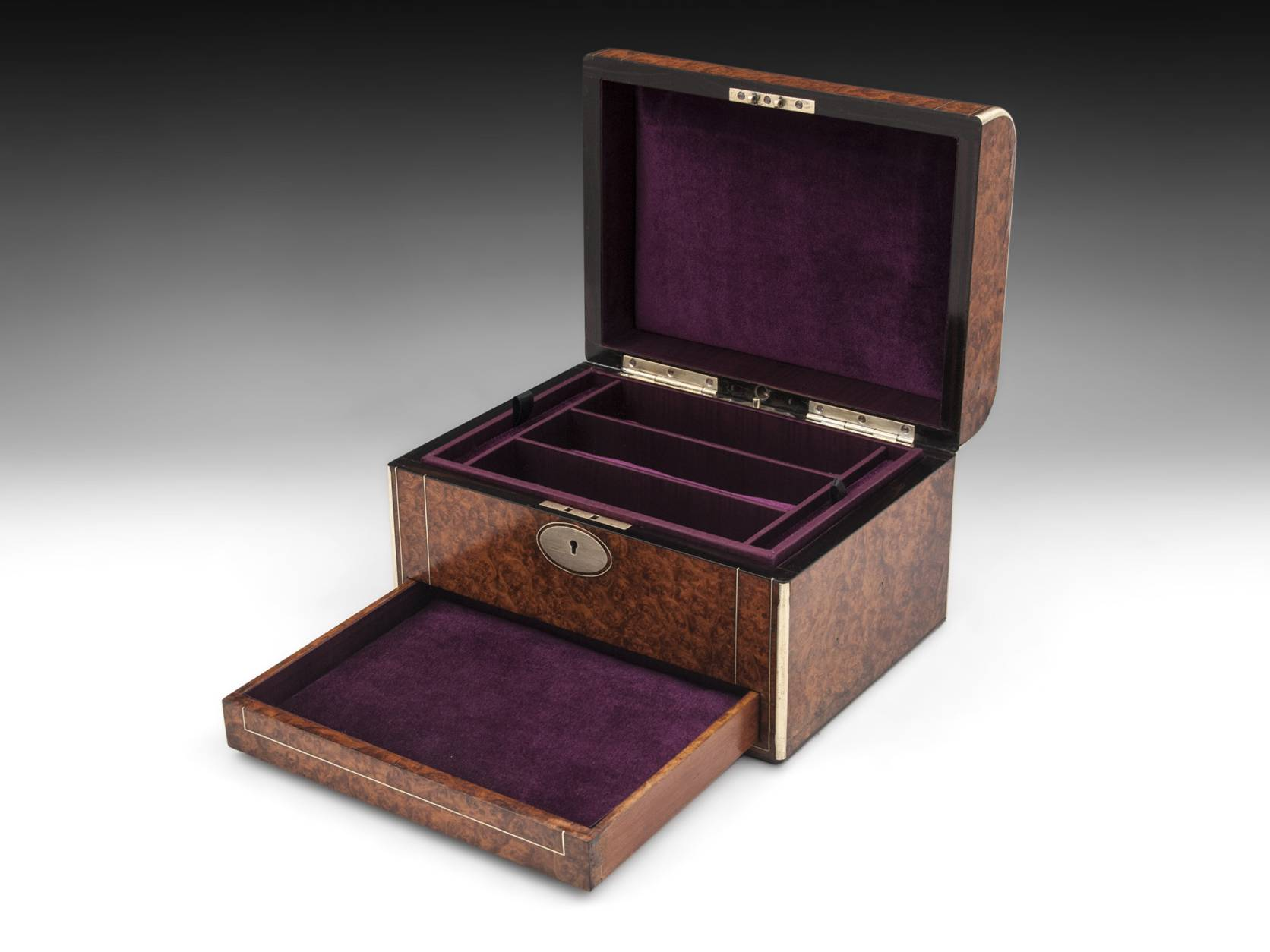 Amboyna Jewellery Box-8