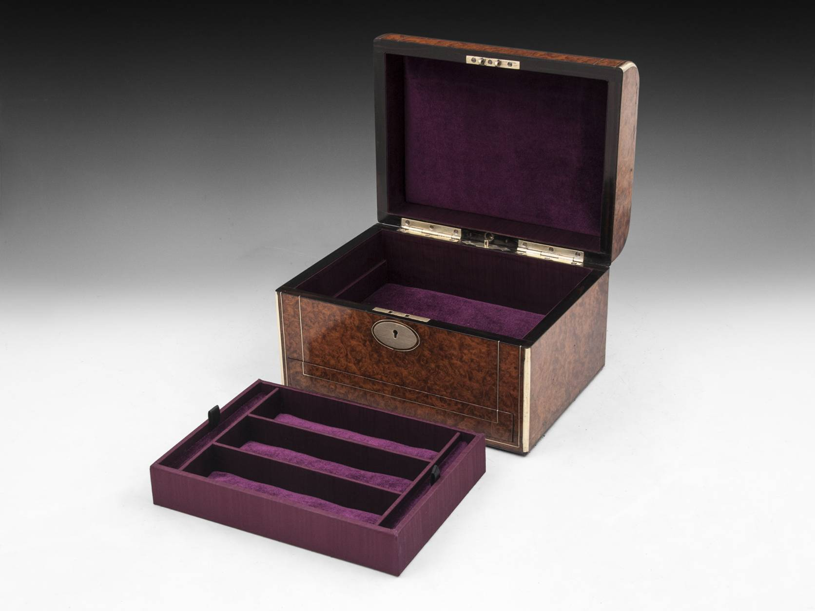 Amboyna Jewellery Box-9