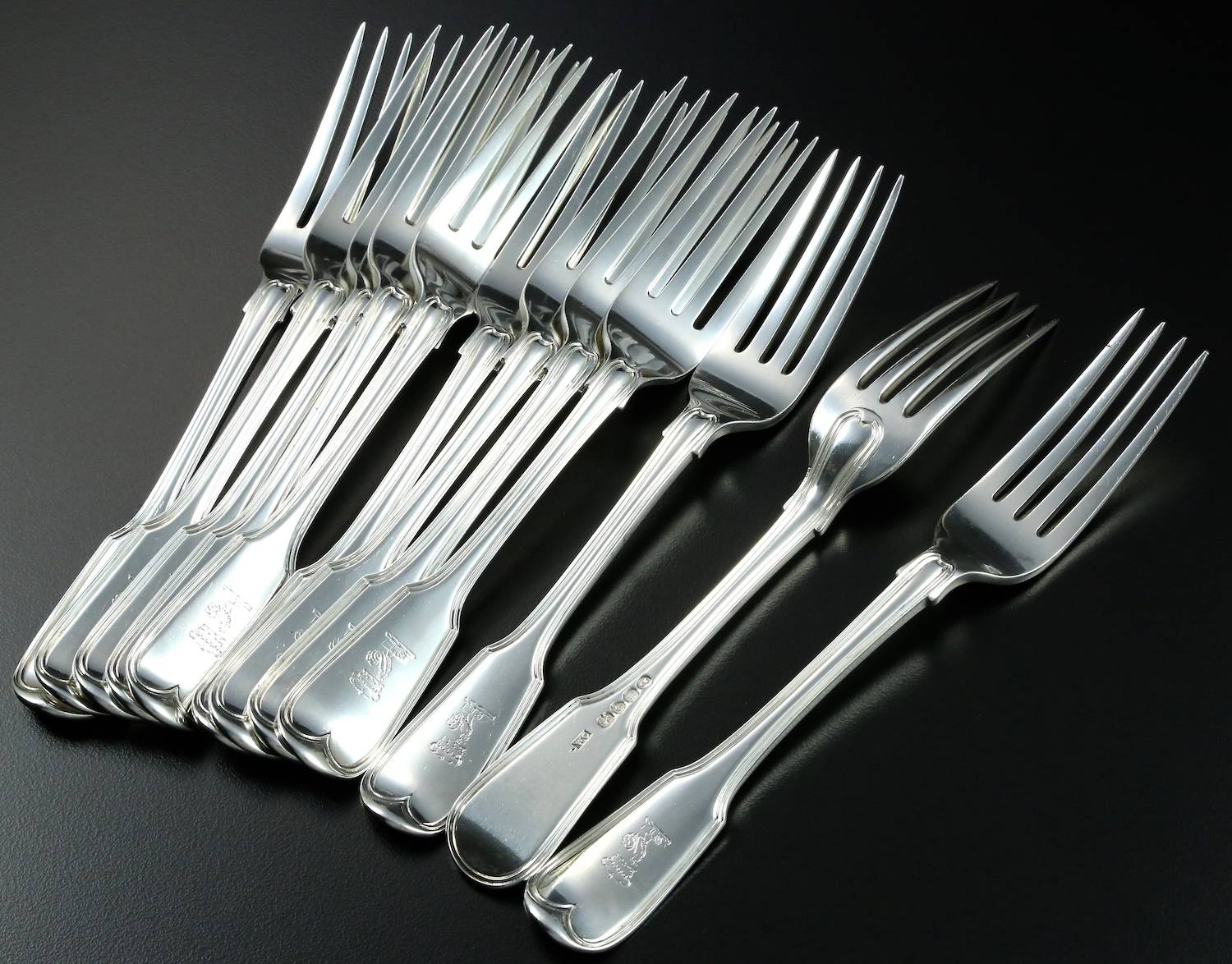 Fiddle + Thread silver dinner forks