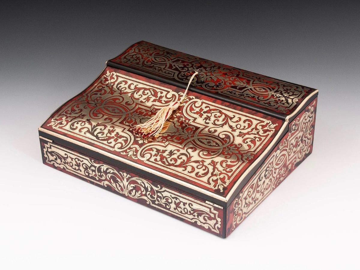 Boulle Writing Box-10