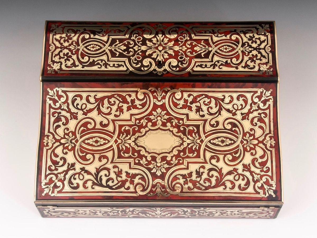 Boulle Writing Box-11