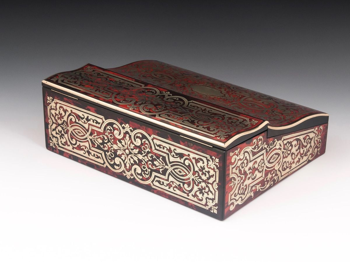Boulle Writing Box-3