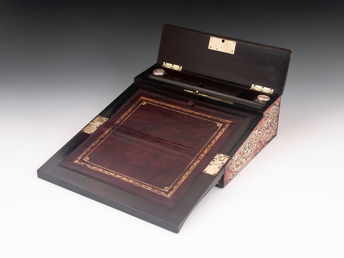 Boulle Writing Box-5